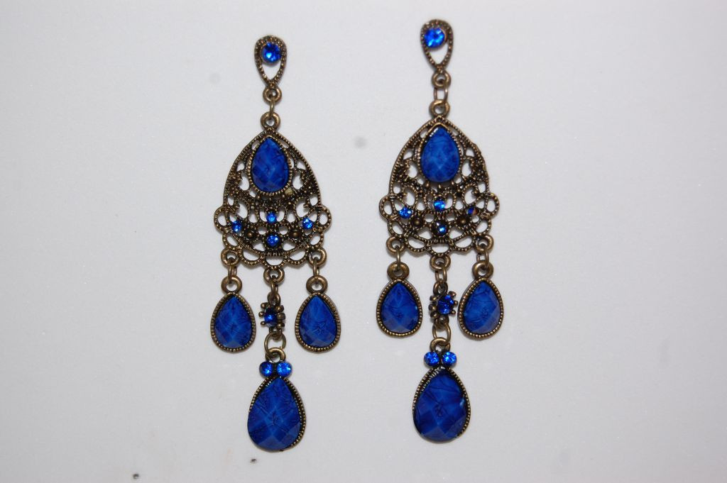 Long earrings blue Solera