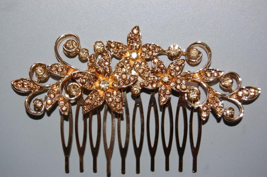 Three spring Golden Flower comb