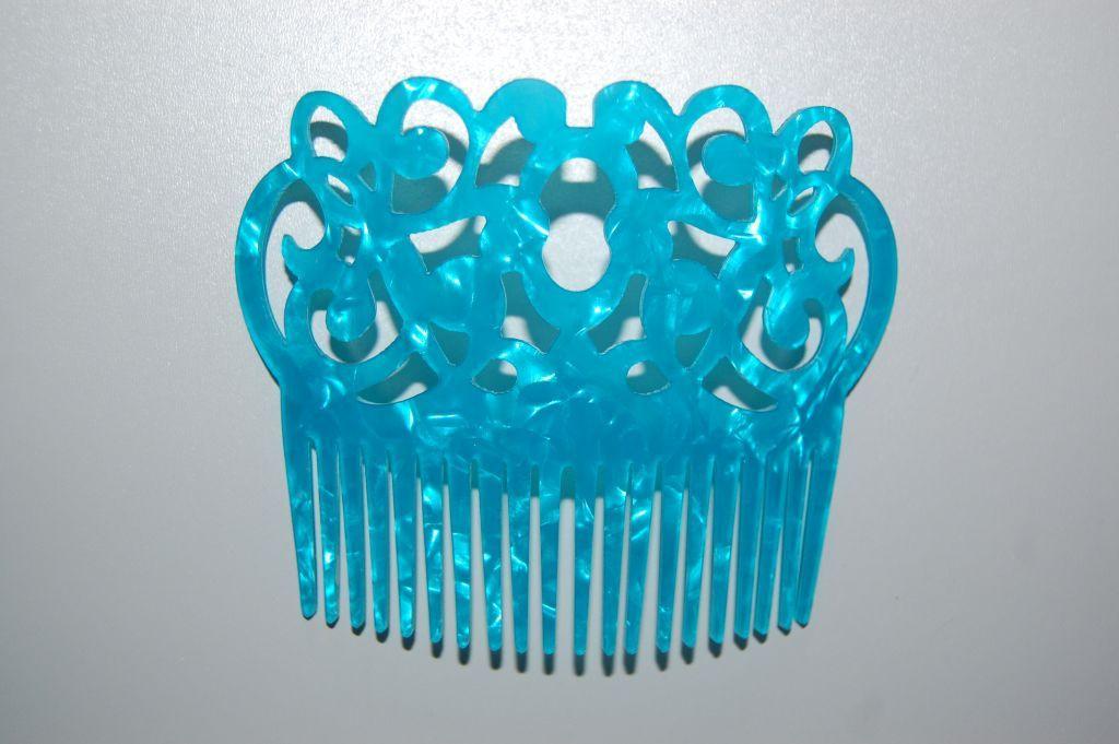 Set 2 peinas turquoise gitanilla