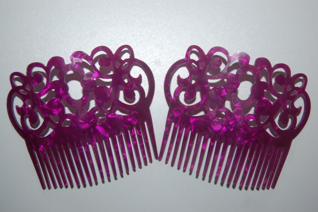 Set 2 peinas gitanilla bougainvillea purple