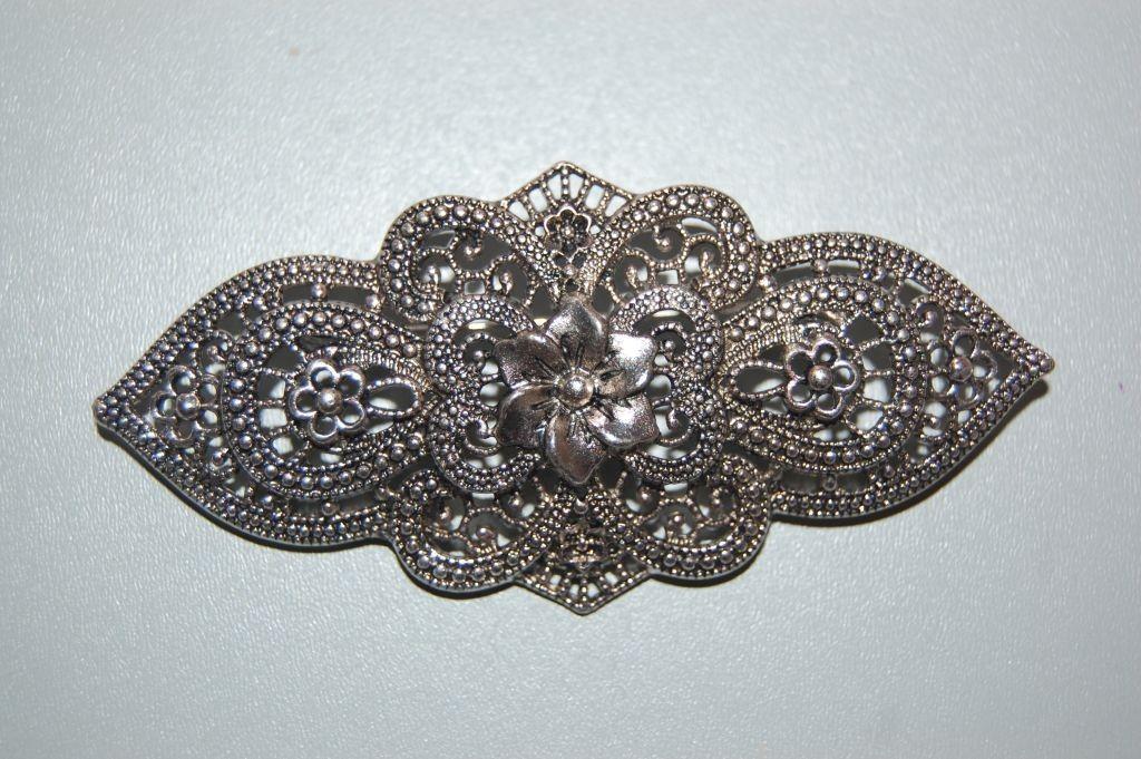 ELSA brooch flower, old silver