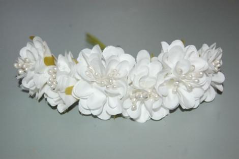 Set 6 white flowers Dulcinea