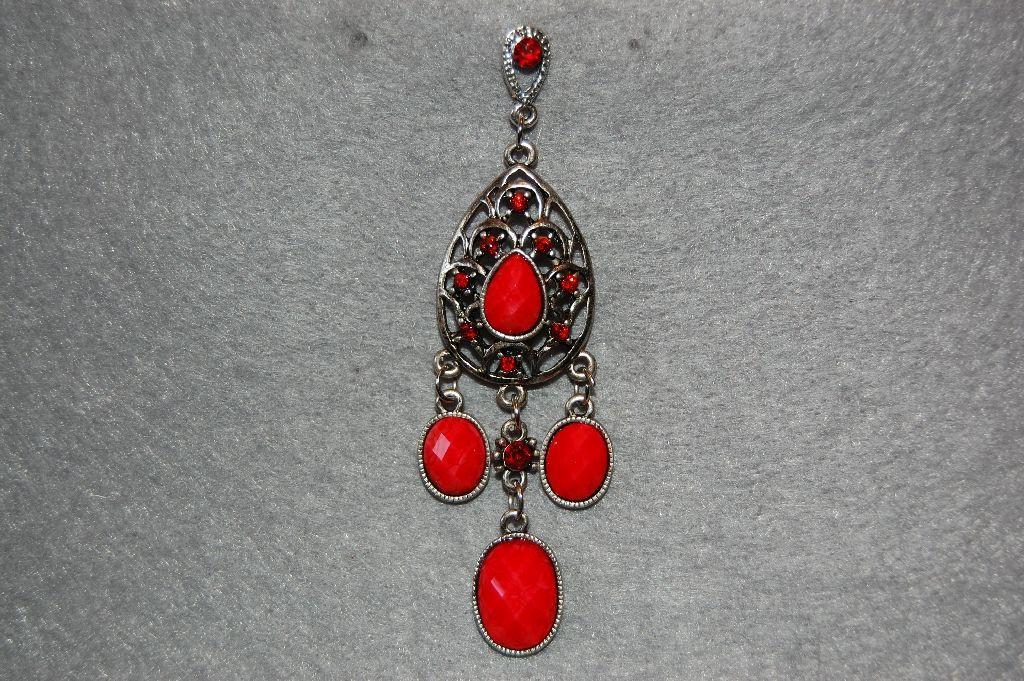 Real long red earrings