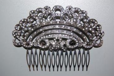 Comb majestic old silver and glitter