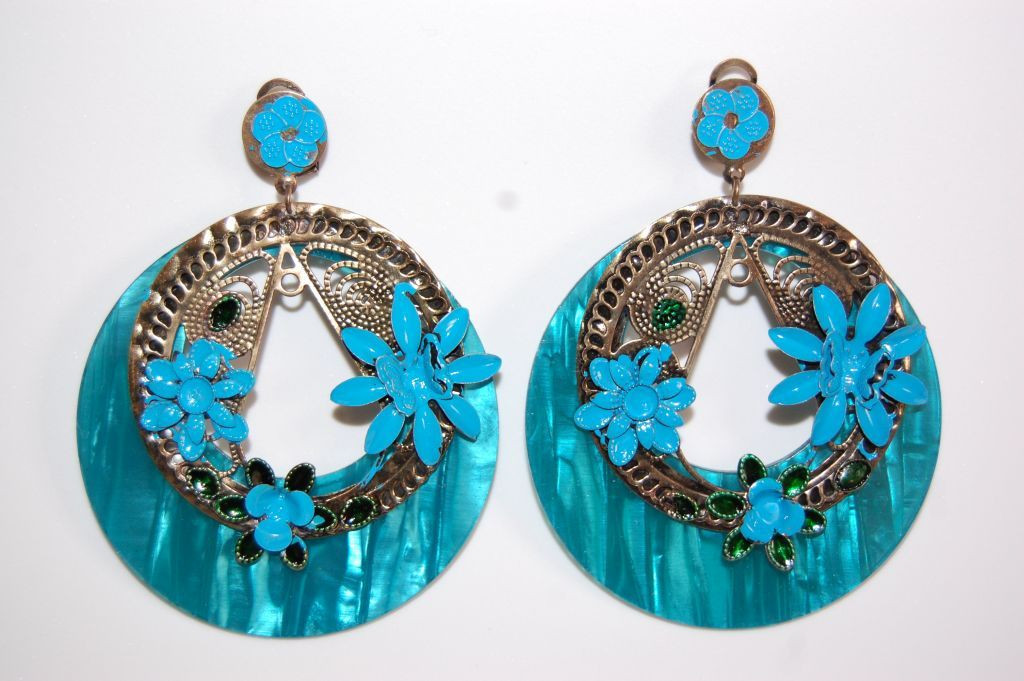 Earrings turquoise Bulerías and gold
