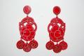 Earrings red Trini carei