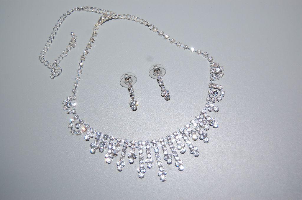 Set Leonor white sparkles