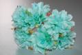 Bouquet carnations green water