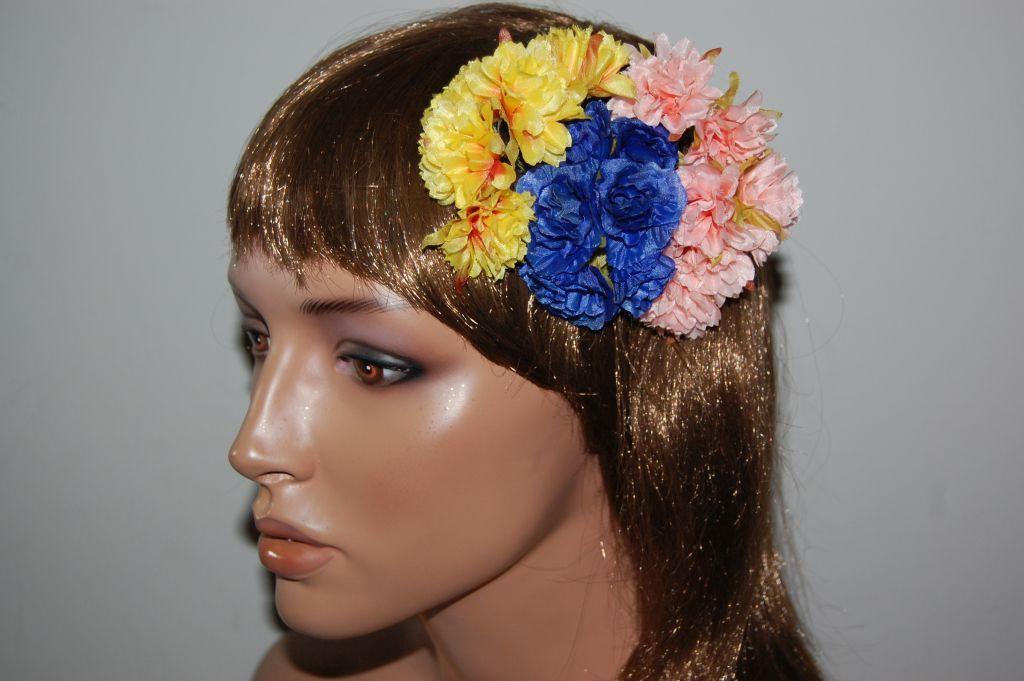 Blue Carnation corsage