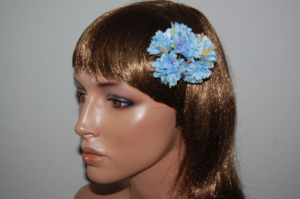 Blue Carnation corsage 1