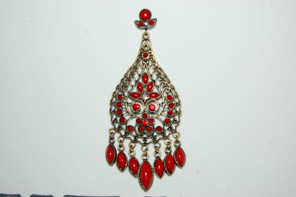 Earrings red fiasco