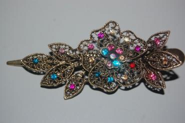 Multicolored sweet flower clip