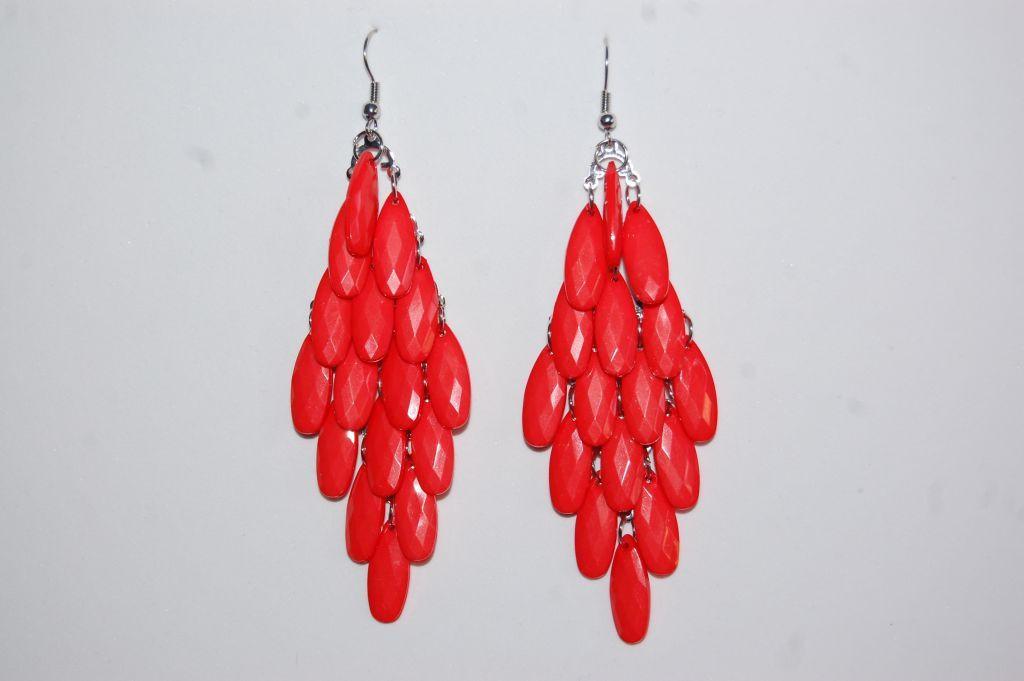 16 tears coral earrings