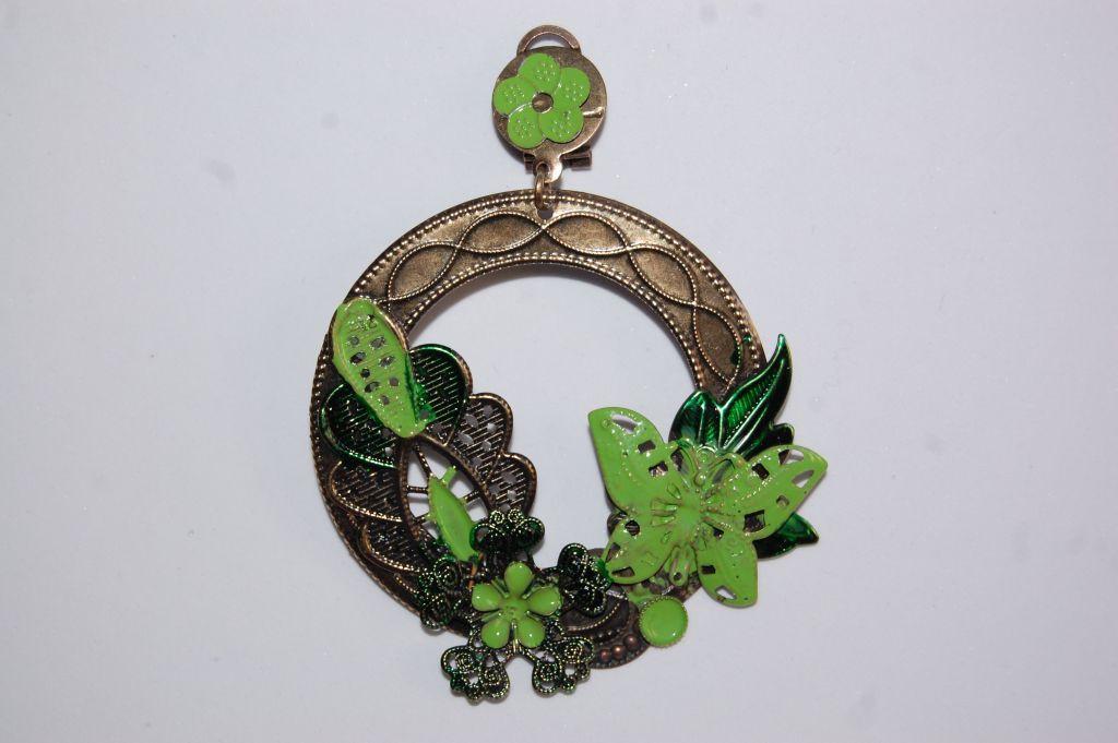 Pendientes Marismas metal verde