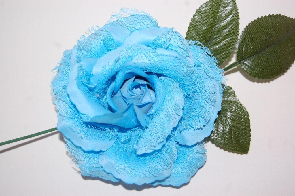 Flower fan turquoise small