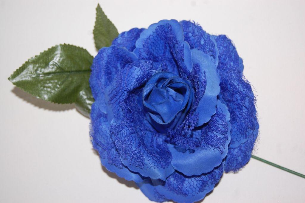 Flower fan blue small