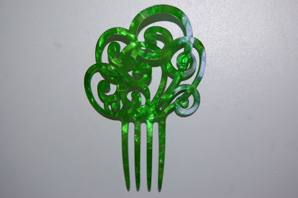 Seville Green Pearl comb