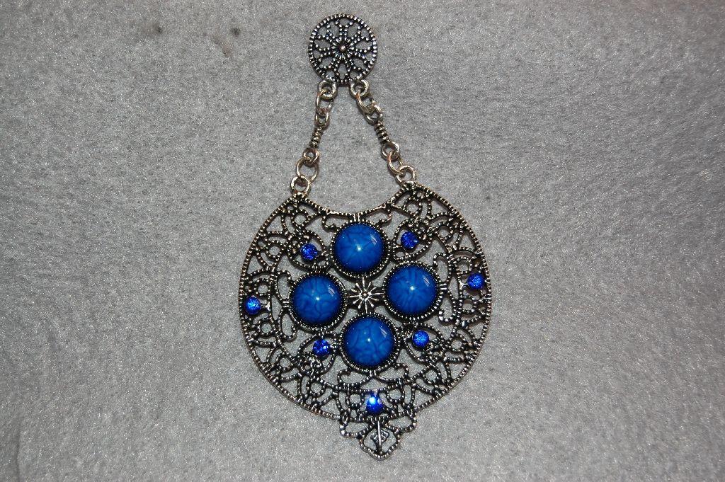 Pendientes emperatriz azules