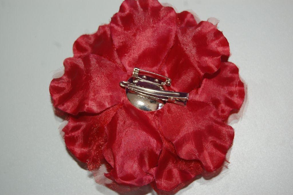 Tocado flor rojo granate Miriam