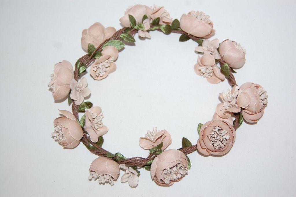 Corona de flores nude Luz