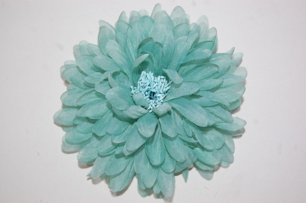 Flor Mandala verde agua