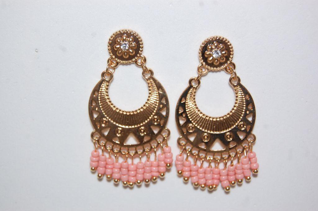 Pendientes Sultana niña rosa