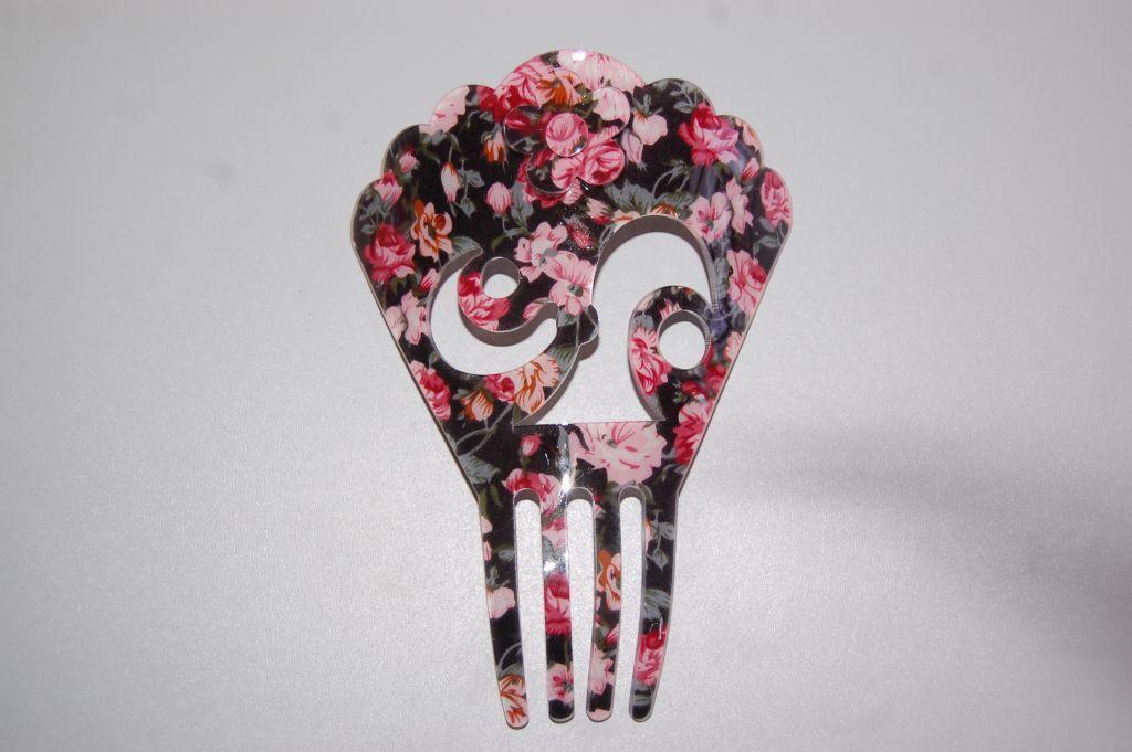 Peina Floral negro y rosa