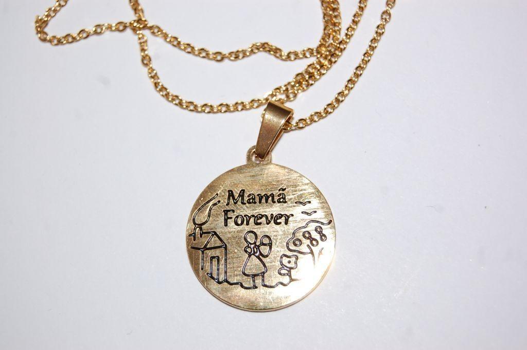Collar Mamá Forever dorado