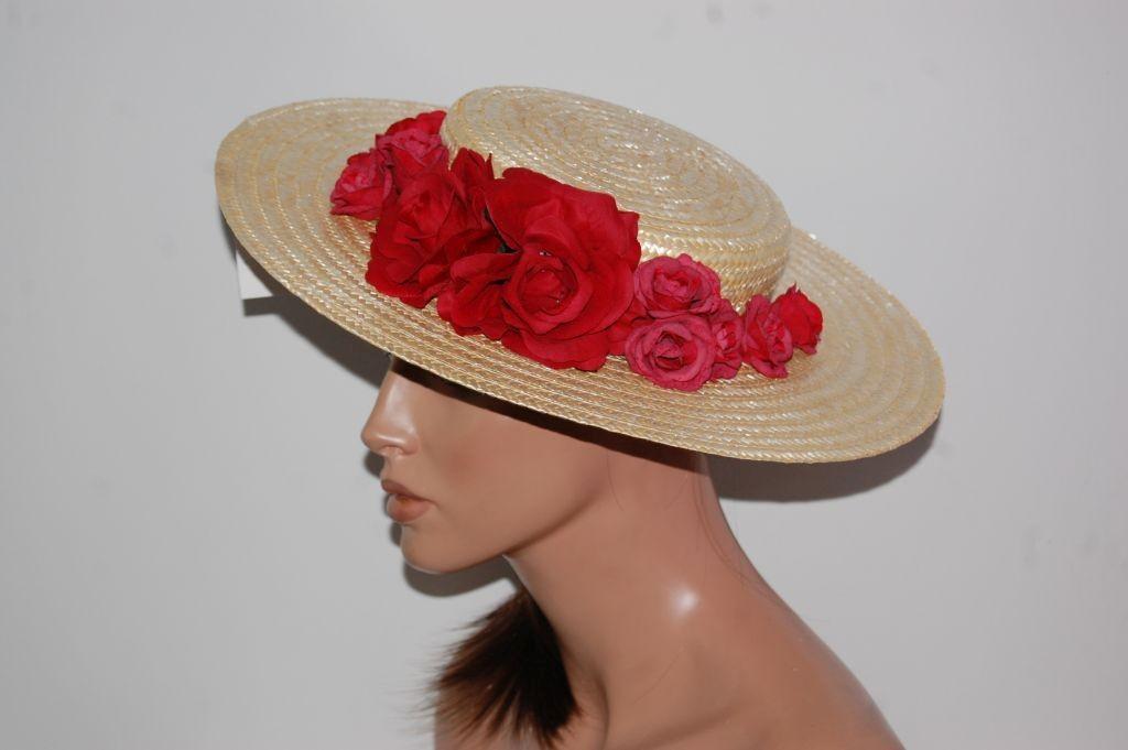 Chevalier 39 cm flores rojas