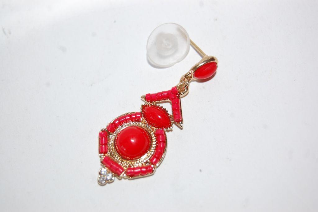 Pendientes niña flamenca Olé rojo