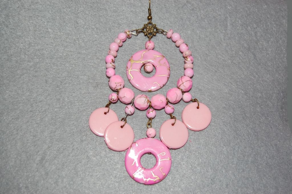 Earrings pink Gypsy