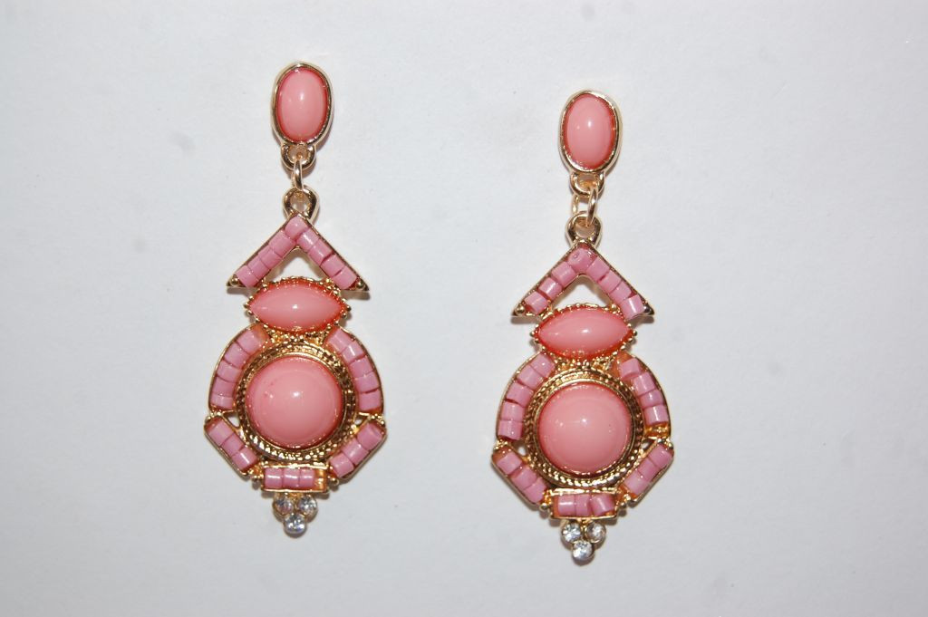 Pendientes niña flamenca Olé rosa