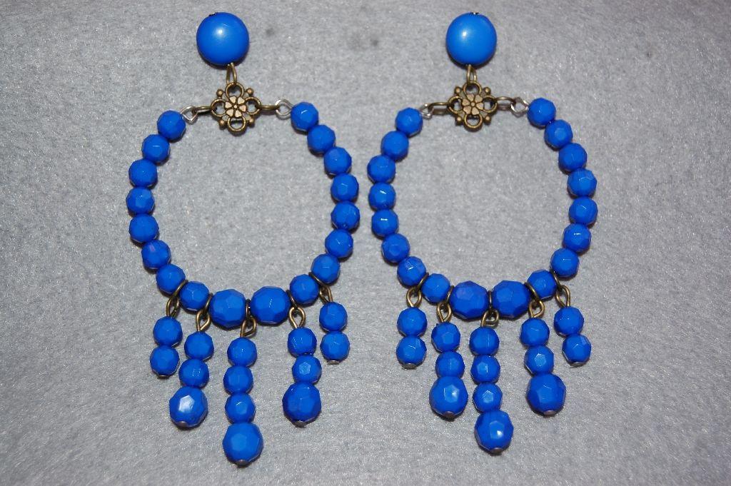 Earrings blue earrings
