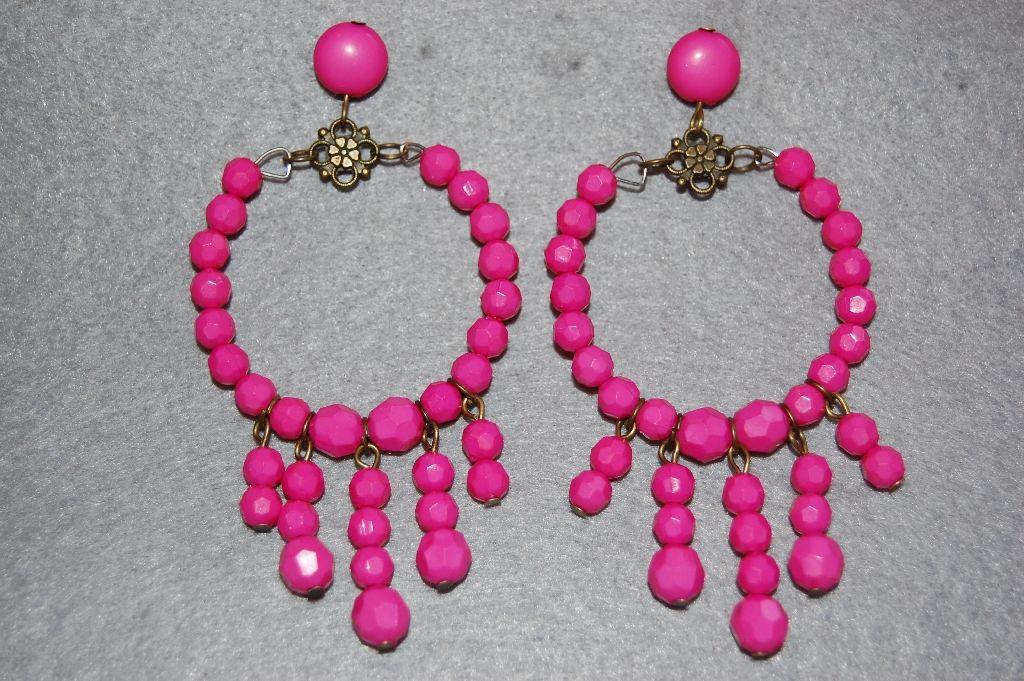 Fuchsia earrings earrings