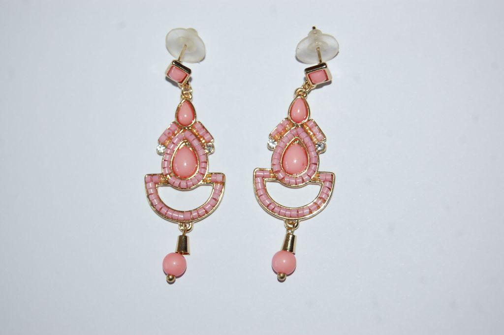 Pendientes flamenca rosa 6 cm