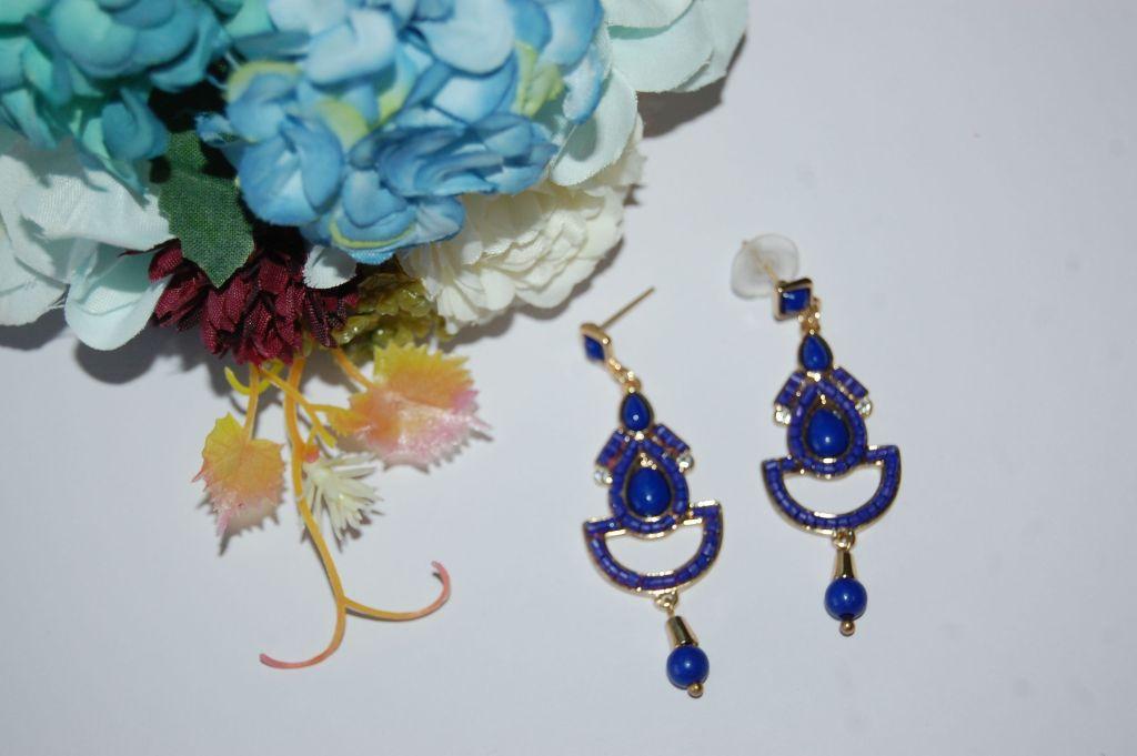 Pendientes flamenca azul 6 cm