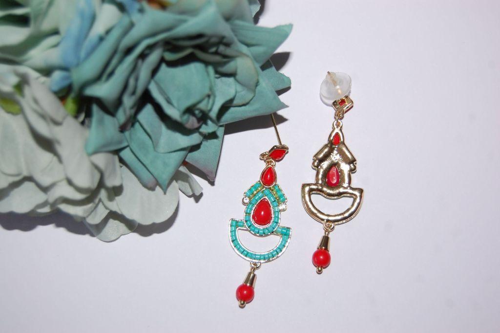 Pendientes flamenca bicolor 6 cm