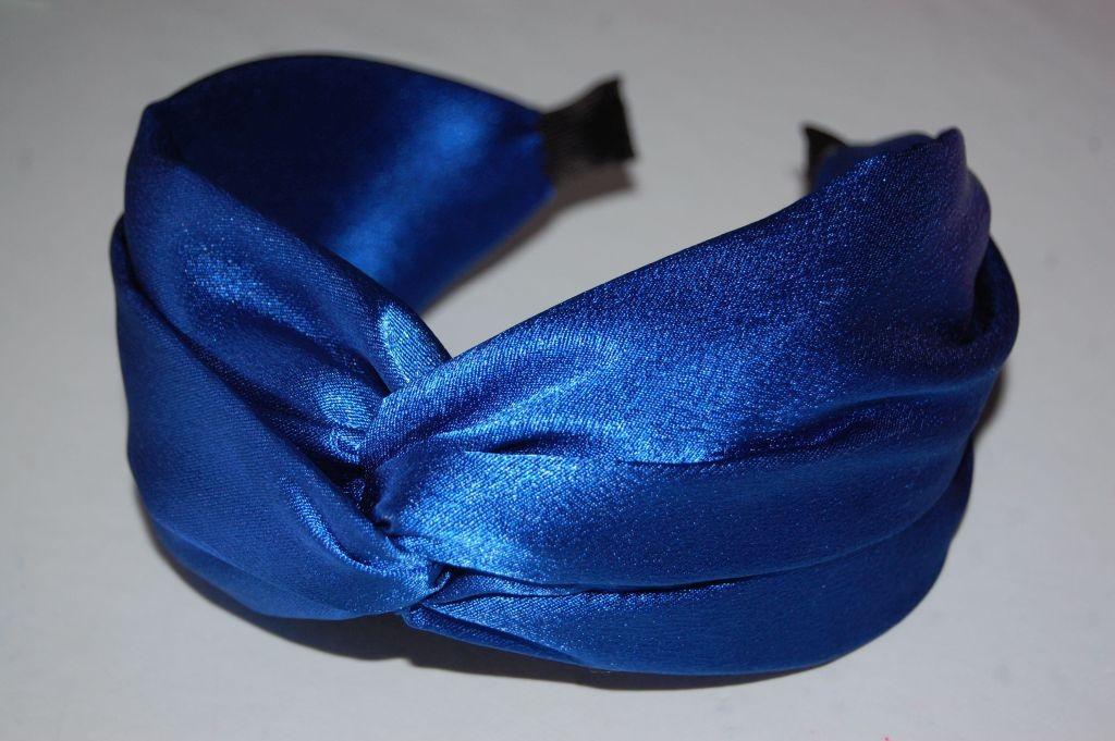 Diadema nudo raso xl azul
