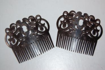 Conjunto 2 peines gitanilla negro