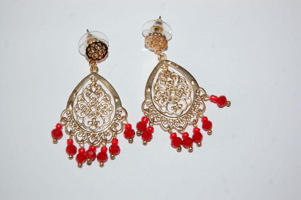 Pendientes flamenca Aris rojo