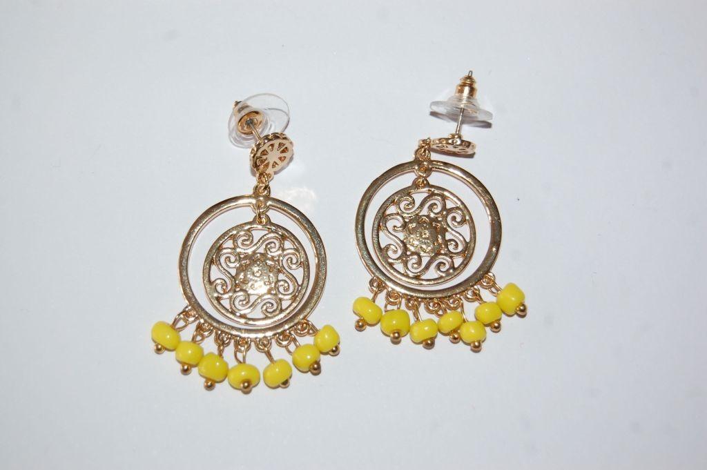 Pendientes flamenca Orbis amarillo