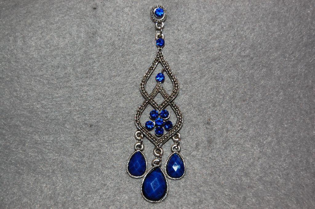 Earrings blue long tide