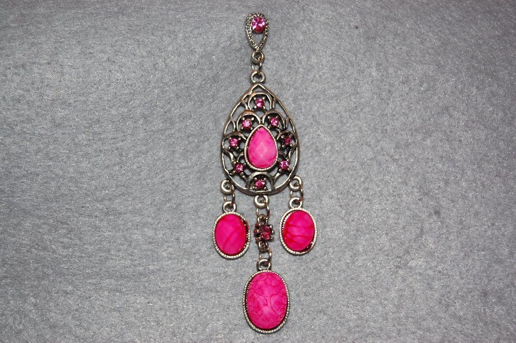Real long pink earrings