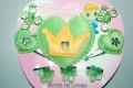 Set green heart