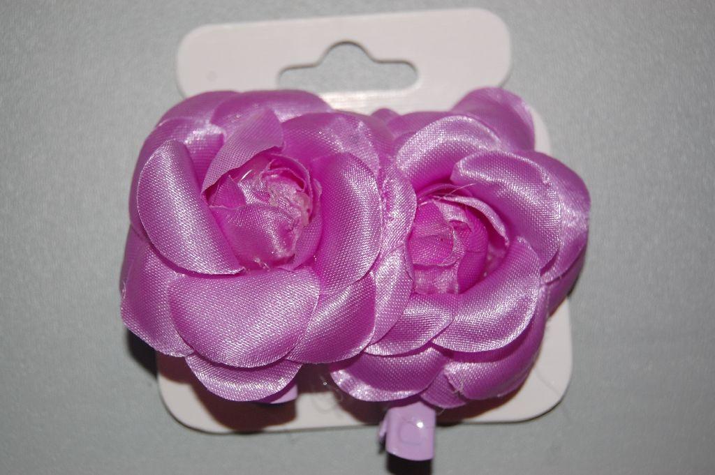 Violet flower clip set