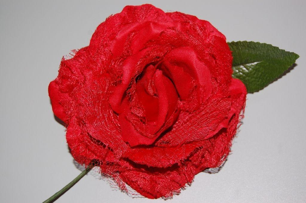 Flor abanico rojo