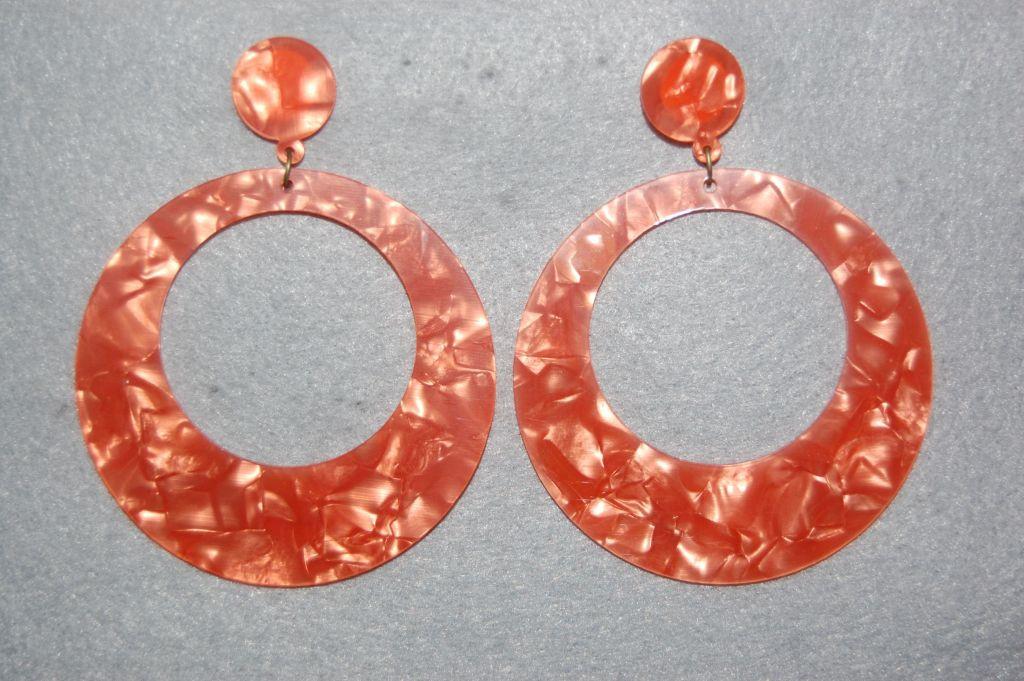 Earrings hoop Orange Seville