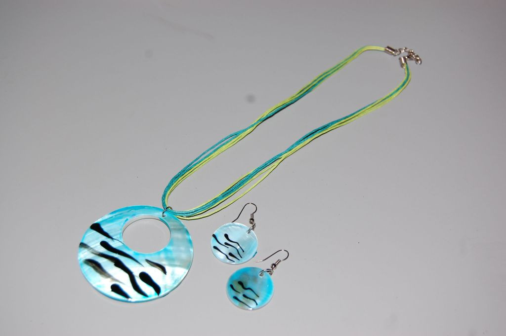 Set turquoise mother of Pearl