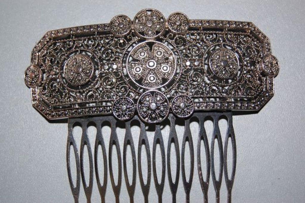 Peineta whirlwind old silver