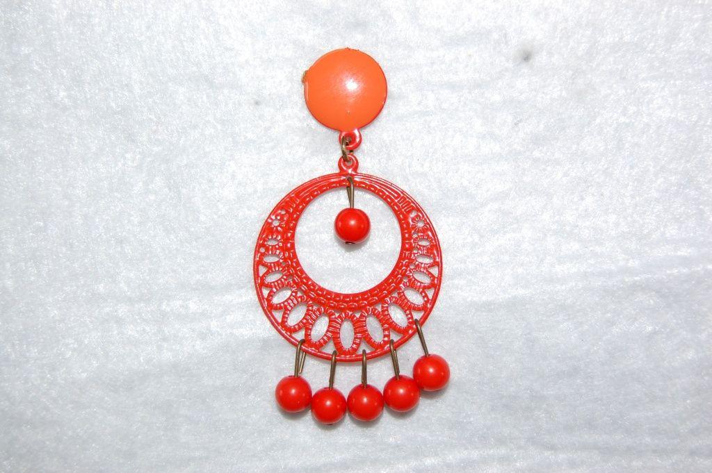 Earrings Lunarillo oranges